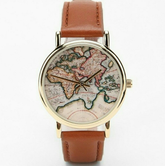 Urban Outfitters World Map Watch.Urban Outfitters Accessories World Map Watch Poshmark
